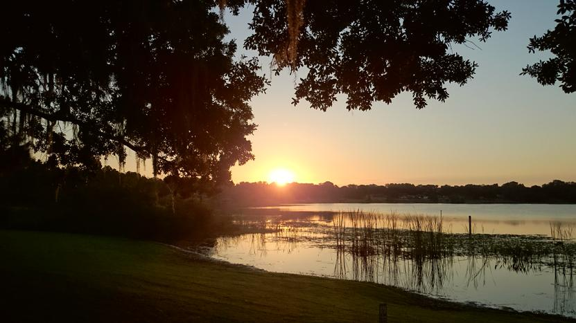 Lake, sunrise, Polk State College, Winter Haven, Florida,pictures, picture, beautiful